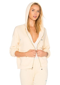 Wildfox Starlet Embroidery Zip Up Sweatshirt