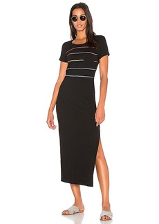 Wildfox Couture Tennis Stripe T-Shirt Dress in Black. - size L (also in S,XS)