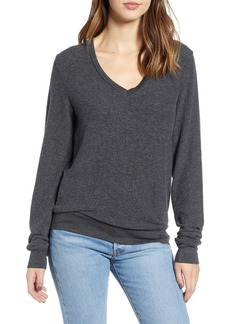 Wildfox Deep V-Neck Baggy Beach Jumper Pullover