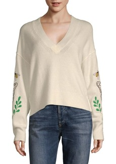 Wildfox Embroidered Sweater