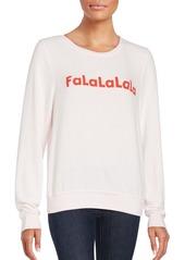 Wildfox FaLaLaLaLa Graphic Pullover
