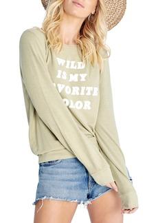 Wildfox Favorite Color Brushed Sweatshirt