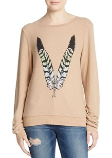 Wildfox Feather Graphic Sweatshirt