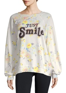 Wildfox Floral-Print Sweater