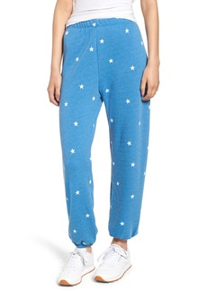 Wildfox Football Star Easy Sweatpants