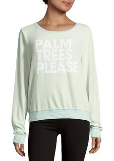 Wildfox Front Graphic Sweatshirt