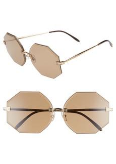 Wildfox Gem 64mm Oversize Geometric Sunglasses