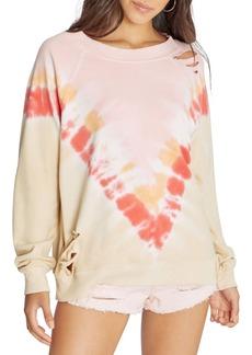 Wildfox Grapefruit Distressed Sommers Sweatshirt
