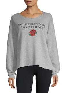 Wildfox Graphic Cropped Sweater