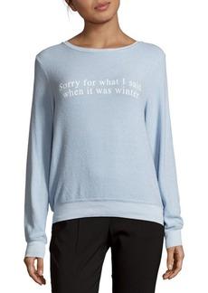 Wildfox Graphic Long Sleeve Sweatshirt