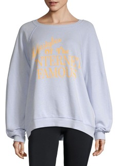 Wildfox Graphic Long-Sleeve Sweater