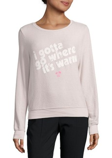Wildfox Graphic Roundneck Sweatshirt