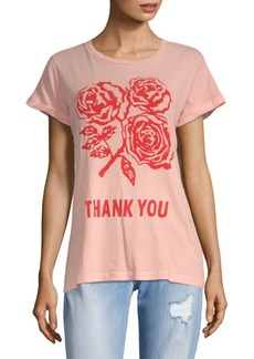 Wildfox Graphic Thank You Cotton Tee