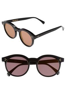 Wildfox Harper Zero 53mm Round Keyhole Sunglasses