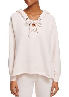WILDFOX Hutton Lace-Up Sweatshirt
