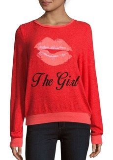 Wildfox Kiss the Girl Graphic Sweater