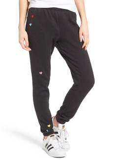 Wildfox Knox - Heart Embroidered Sweatpants