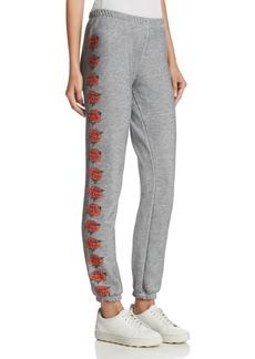 WILDFOX Knox Rose Graphic Sweatpants
