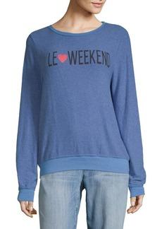 Wildfox Le Weekend Sweatshirt