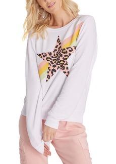 Wildfox Leopard Star Graphic Sweatshirt
