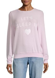 Wildfox Lets Sleep In Sweatshirt