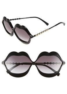 Wildfox 'Lip Service' 65mm Sunglasses