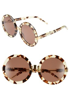 Wildfox 'Malibu' 56mm Round Sunglasses