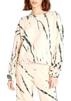 Wildfox Monte Tie Dye Crop Sweatshirt