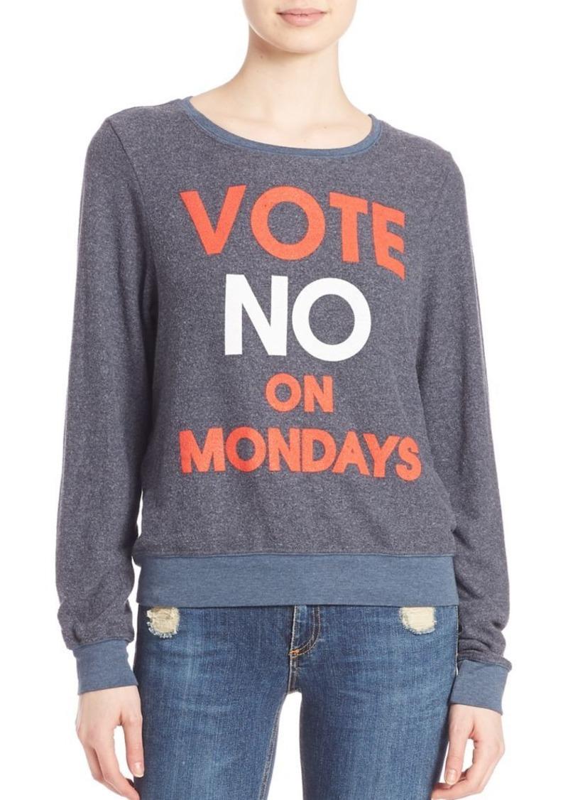Wildfox Vote No On Mondays Sweatshirt