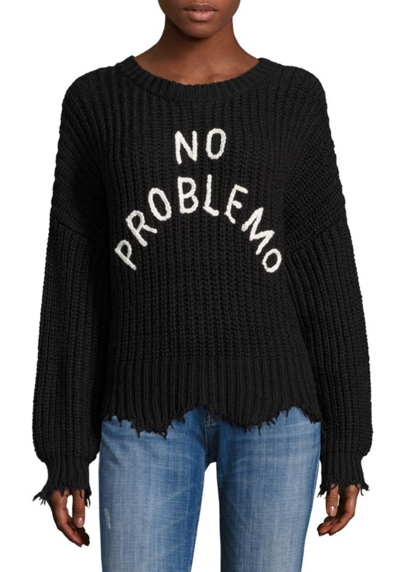 Wildfox No Problemo Rib-Knit Sweater
