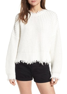 Wildfox Palmetto Frayed Sweater
