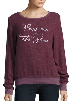 Wildfox Pass the Wine Long Sleeve Pullover