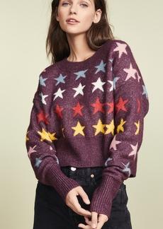 Wildfox Rainbow Stars Elektra Sweater