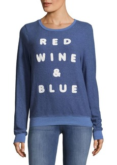Wildfox Red Wine Long-Sleeve Tee