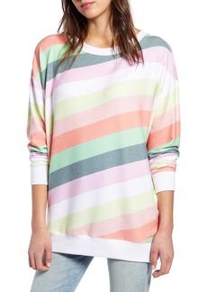Wildfox Roadtrip Rainbow Stripe Pullover
