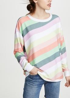 Wildfox Roadtrip Sorbet Stripe Sweatshirt