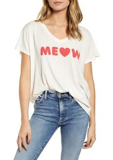 Wildfox Romeo Meow V-Neck Tee