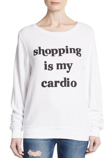 Wildfox Shopping Is My Cardio Sweatshirt