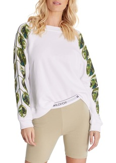 Wildfox Sommers Plant Lover Cotton Blend Sweatshirt