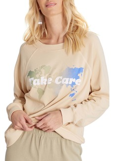 Wildfox Sommers Take Care Cotton Blend Sweatshirt