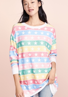 Wildfox Stellar Stripe Roadtrip Sweatshirt