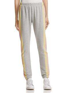 WILDFOX Striped-Leg Sweatpants
