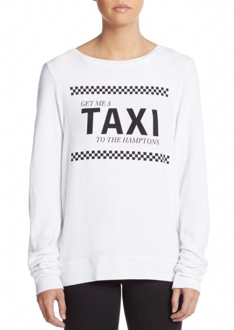 Wildfox Taxi To The Hamptons Sweatshirt