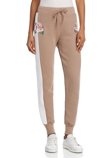 WILDFOX Tea Roses Embroidered Jogger Pants