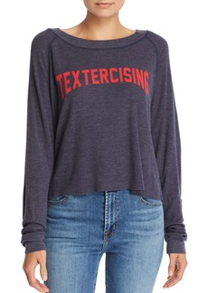 WILDFOX Textercising Waffle-Knit Tee - 100% Exclusive