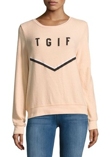 Wildfox TGIF Long-Sleeve Tee