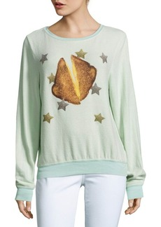 Wildfox Toast & Stars Graphic Sweatshirt