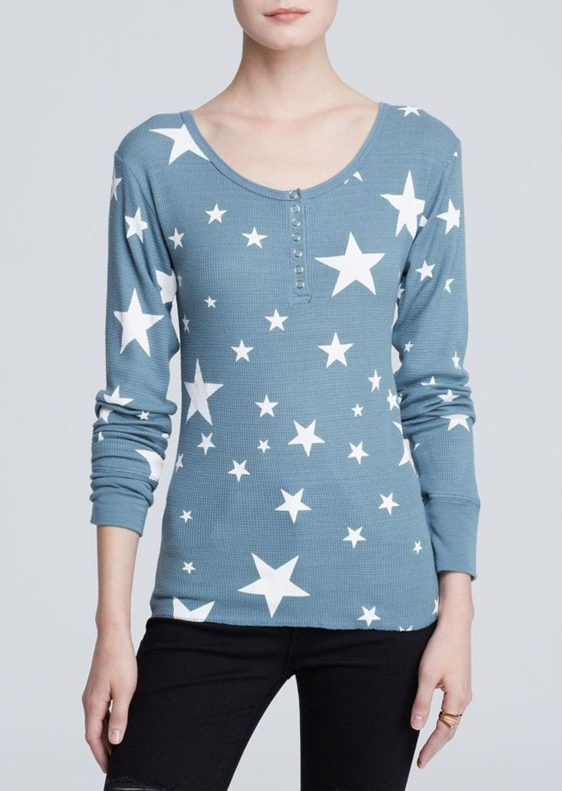 WILDFOX Top - Disco Stars Thermal Henley