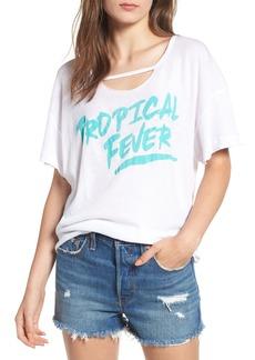Wildfox Tropical Fever Rip Neck Tee