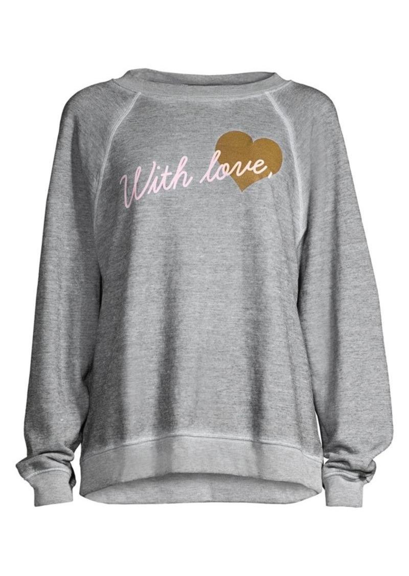 Wildfox With Love Heathered Sweatshirt